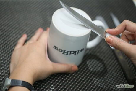 How to Sharpen a Knife with a Coffee Cup?
