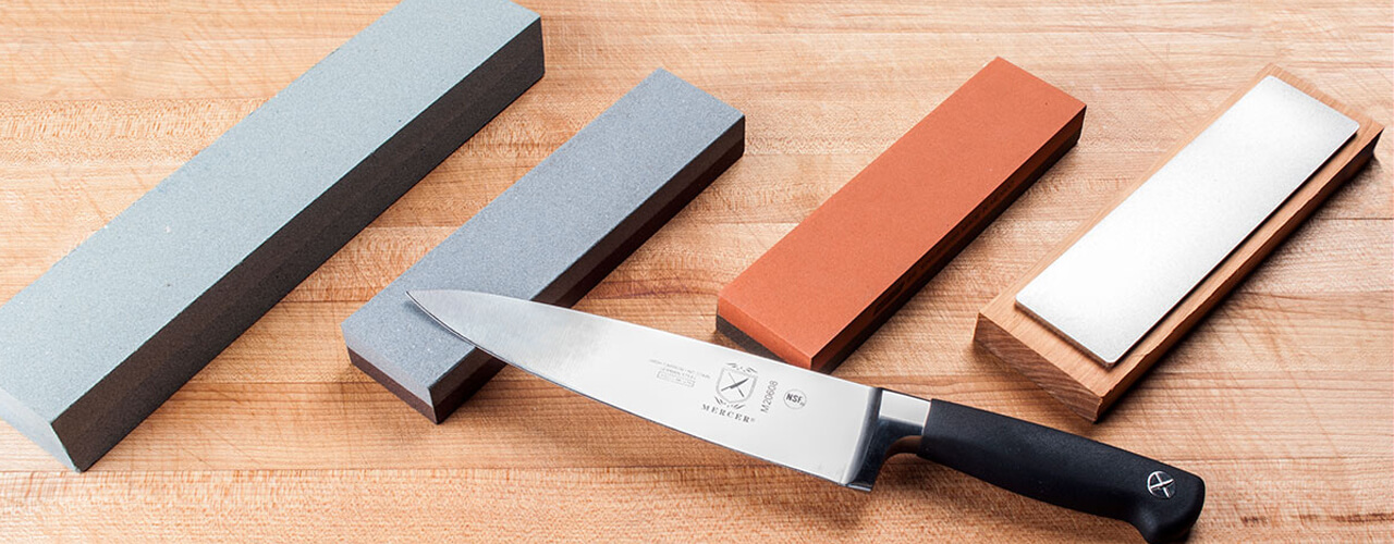how to sharpen a knife at home with a stone