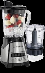 Hamilton Beach Power Elite Blender with 40oz Glass Jar and 3-Cup Vegetable Chopper