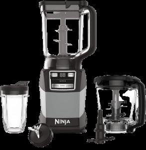 Ninja AMZ493BRN Compact Kitchen System with Auto-iQ, Blender Food Processor Combo